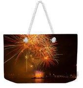 River Thames Fireworks Weekender Tote Bag