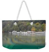River With Trees Weekender Tote Bag