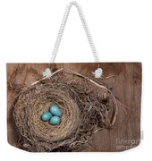 Robins Nest With Eggs Weekender Tote Bag