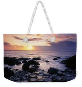 Rocks On The Beach, Giants Causeway Weekender Tote Bag
