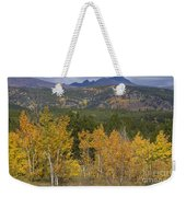 Rocky Mountain Autumn View Weekender Tote Bag