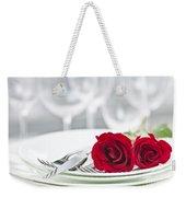 Romantic Dinner Setting Weekender Tote Bag