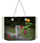 Roses And Fence  Weekender Tote Bag