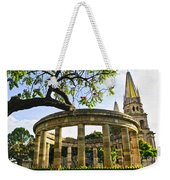 Rotunda Of Illustrious Jalisciences And Guadalajara Cathedral Weekender Tote Bag