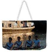 Rowers At Sunset Weekender Tote Bag