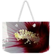 Ruby And White Hibiscus Weekender Tote Bag