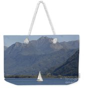 Sailing Boat And Mountain Weekender Tote Bag