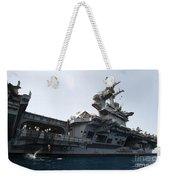 Sailors Jump To The Sea During A Swim Weekender Tote Bag