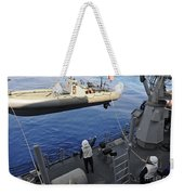 Sailors Lower A Rigid Hull Inflatable Weekender Tote Bag