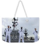 Sailors Man The Rails Aboard Weekender Tote Bag