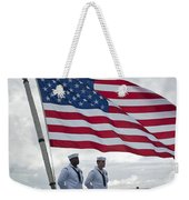 Sailors Stand At Parade Rest Weekender Tote Bag