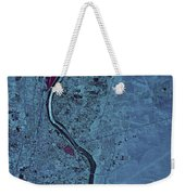 Satellite View Of Albuquerque, New Weekender Tote Bag