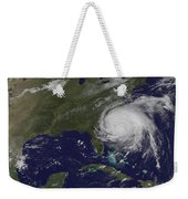 Satellite View Of Hurricane Irene Weekender Tote Bag