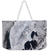 Satellite View Of Kamchatka Peninsula Weekender Tote Bag