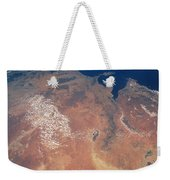 Satellite View Of Planet Earth Weekender Tote Bag
