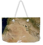 Satellite View Of The Middle East Weekender Tote Bag