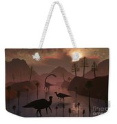 Sauropod And Duckbill Dinosaurs Feed Weekender Tote Bag