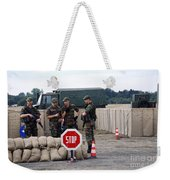 Scenery Of A Checkpoint Used Weekender Tote Bag