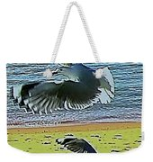 Sea Gulls In Flight  Weekender Tote Bag