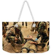Seabees Conduct A Mass Casualty Drill Weekender Tote Bag