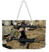 Seabees Defend Their Camp Weekender Tote Bag