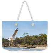 Seagull Spreads Its Wings On The Beach Weekender Tote Bag