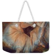 Seated Dancer Weekender Tote Bag by Edgar Degas