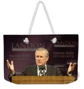 Secretary Of Defense Donald H. Rumsfeld Weekender Tote Bag