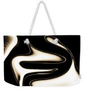 Sepia Steel Abstract Weekender Tote Bag