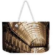 Sepia Toned Image Of Leadenhall Market London Weekender Tote Bag