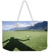 Shadow Playing Tennis Weekender Tote Bag