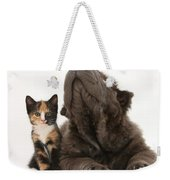 Shar Pei Puppy And Tortoiseshell Kitten Weekender Tote Bag