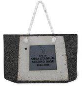Shea Stadium Second Base Weekender Tote Bag