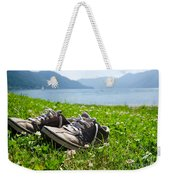 Shoes On The Green Grass Weekender Tote Bag