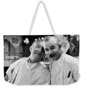 Silent Still: Barber Shop Weekender Tote Bag
