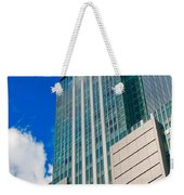 Skyscraper Front View With Blue Sky Weekender Tote Bag