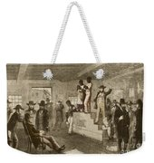 Slave Auction, 1861 Weekender Tote Bag by Photo Researchers