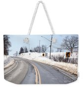 Snow By The Roadside Weekender Tote Bag by Ted Kinsman
