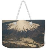 Snowcovered Volcano Andes Chile Weekender Tote Bag by Colin Monteath