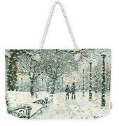 Snowing In The Park Weekender Tote Bag