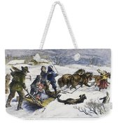 Snowstorm In The Country Weekender Tote Bag