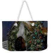 Snowy Christmas Eve Weekender Tote Bag