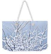 Snowy Trees Weekender Tote Bag