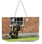 Soldiers Of The Belgian Army Helping Weekender Tote Bag