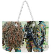 Soldiers Of The Special Forces Group Weekender Tote Bag by Luc De Jaeger