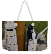 Space Shuttle Endeavour Lifts Weekender Tote Bag