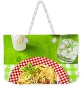Spaghetti Al Pesto Weekender Tote Bag