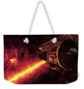 Spitzer Seen Against The Infrared Sky Weekender Tote Bag