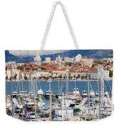 Split Cityscape Weekender Tote Bag