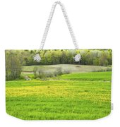 Spring Farm Landscape With Dandelion Bloom In Maine Weekender Tote Bag by Keith Webber Jr
